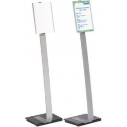 Durable support d'information info sign stand, a4, aluminium