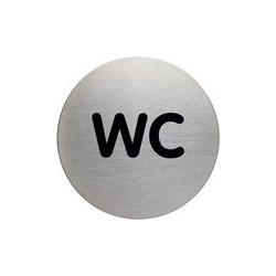 "Durable pictogramme ""wc"", diamètre: 83 mm, argenté"