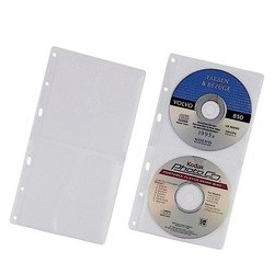 Durable pochette cd-/dvd cover s, pour 2 cd, pp,156 x 288 mm