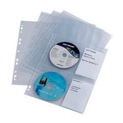 Durable pochette cd-/dvd cover light m, pour 4 cd, en pp,