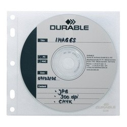 Durable pochette cd-/dvd cover file, pp, transparent, pour