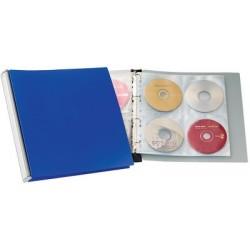 Durable cd-/dvd-album 96, classeur à anneaux, pp, dos noir,