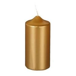 Papstar weihnachts-stumpenkerze, gold