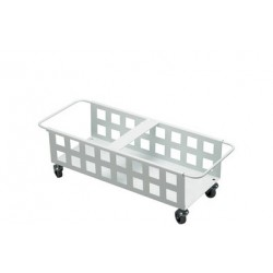 Durable chariot durabin square trolley duo 40, blanc