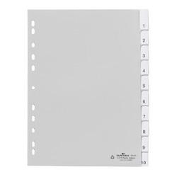 Durable chemise à clip en plastique, a4, pp, en 12, gris (LOT DE 20)