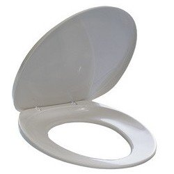 Durable siège de toilette, en plastique, blanc, (LOT DE 5)