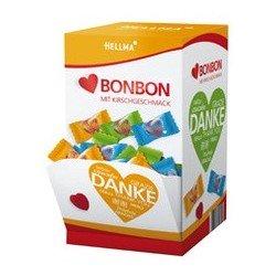 Hellma bonbons en coeur, dans un présentoir en carton