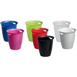 Durable corbeille à papier trend, 16 litres, rond, rouge