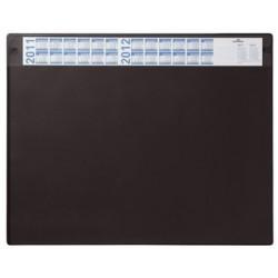 Durable sous-main avec calendrier annuel, noir