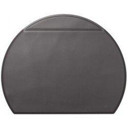 Durable sous-main semi circulaire, 650 x 520 mm, noir