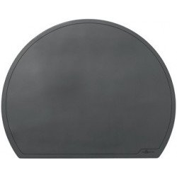 Durable sous-main semi-circulaire, 650 x 520 mm, noir