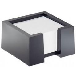 Durable bloc memo cubo, noir, bloc memo élégant en plastique
