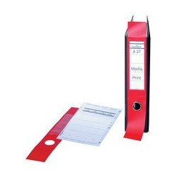 Durable etiquettes pour dos de classeur ordofix, rouge