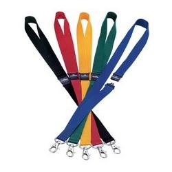 Durable lacet textile 20 avec fermeture de sécurité bleu