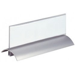 Durable chevalet porte-nom, en forme de toit, en acrylique