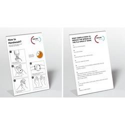 Durable présentoir prospectus, format a4, en acrylique (LOT DE 2)