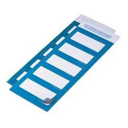 Durable badges adhésifs, en textile, bleu clair
