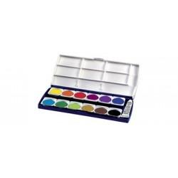 Herlitz pastilles de gouaches st24, 24 couleurs,en plastique