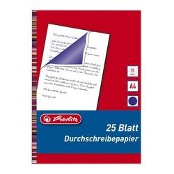 Herlitz carbone pour écriture à main, format a4, contenu: 25