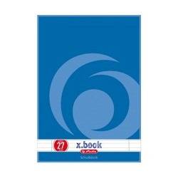Herlitz cahier écoliers x.book, format a4, lineature 26/