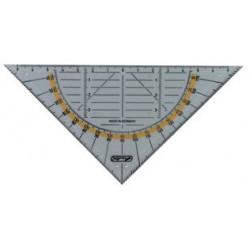 Herlitz equerre géométrique, hypoténuse: 160 mm, avec