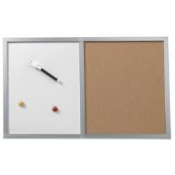 Herlitz tableau mixte, (l)600 x (l)400 mm, cadre en bois