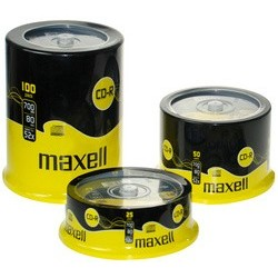 Maxell cd-r 80 minutes, 700 mb, 52x, spindel de 50 cds