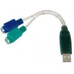 Digitus câble adaptateur usb 1.1 - 2 x ps/2, 180 mm