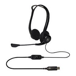 Logitech pc headset 960 usb, noir, port usb