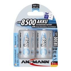Ansmann pile nimh maxe, mono (d), 8.500 mah, blister de 2