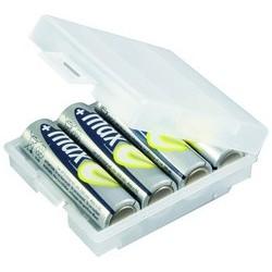Ansmann boîte de piles à 4 compartiments, boîte de rangement