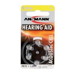 Ansmann pile bouton air de zinc 10 (pr-70), blister de 6