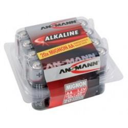 """Ansmann pile alcaline """"red"""", mignon aa, blister de 20"""