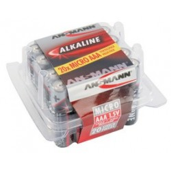 "Ansmann pile alcaline ""red"", micro aaa, blister de 20"