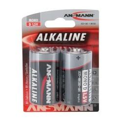 """Ansmann pile alcaline """"red"""", mono d, blister de 2"""