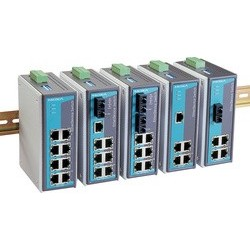 Moxa unmanaged industrial ethernet switch, 16 ports rj45