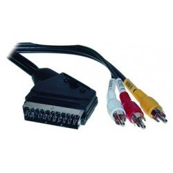 Shiverpeaks basic-s câble scart, connecteur mâle - 3 cinch