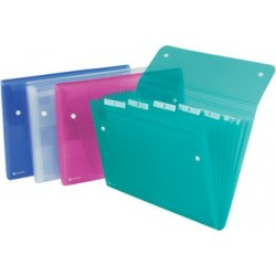 Rexel trieur ice, format a4, 6 compartiments, en pp, (LOT DE 10)