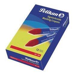 Pelikan crayons à marquer 762, rouge, diamètre: 13,5 mm (LOT DE 12)