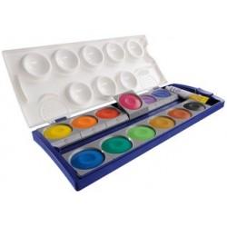 Pelikan boîte de peinture standard d'école k12, 12 couleurs