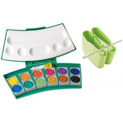 Pelikan boîte de peinture procolor 735, 24 couleurs,aspérule