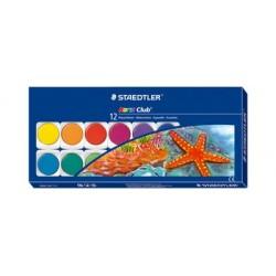Staedtler boîte de peinture noris club, 12 couleurs