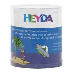 """Heyda kit de timbres à motifs """"pirates & astronaute"""", boîte"""