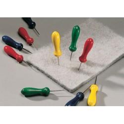 Heyda tapis d'aiguilles à picoter-de feutre, gris, 125x180mm