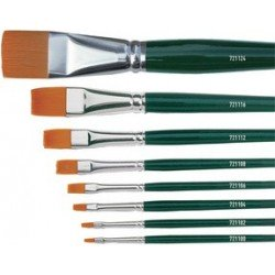 Kreul pinceau hobby line basic, nylon, plat, no 4