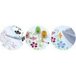 "Kreul peinture pour textiles javana ""sunny"",kit xxl 5x50ml"