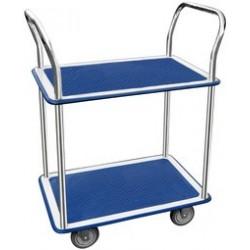 Jpc chariot à étage, 2 plateaux, dim.: (l)730 x (l)470 mm