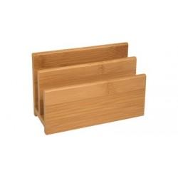 Wedo porte-lettres, en bambou, 2 compartiments