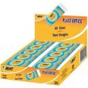 Bic gomme plastique plast-office, présentoir de comptoir (LOT DE 20)