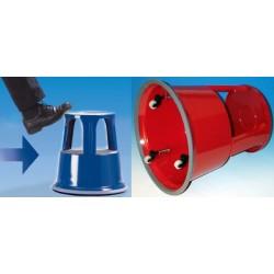 Wedo tabouret marchepied, en métal, rouge / ral 3000